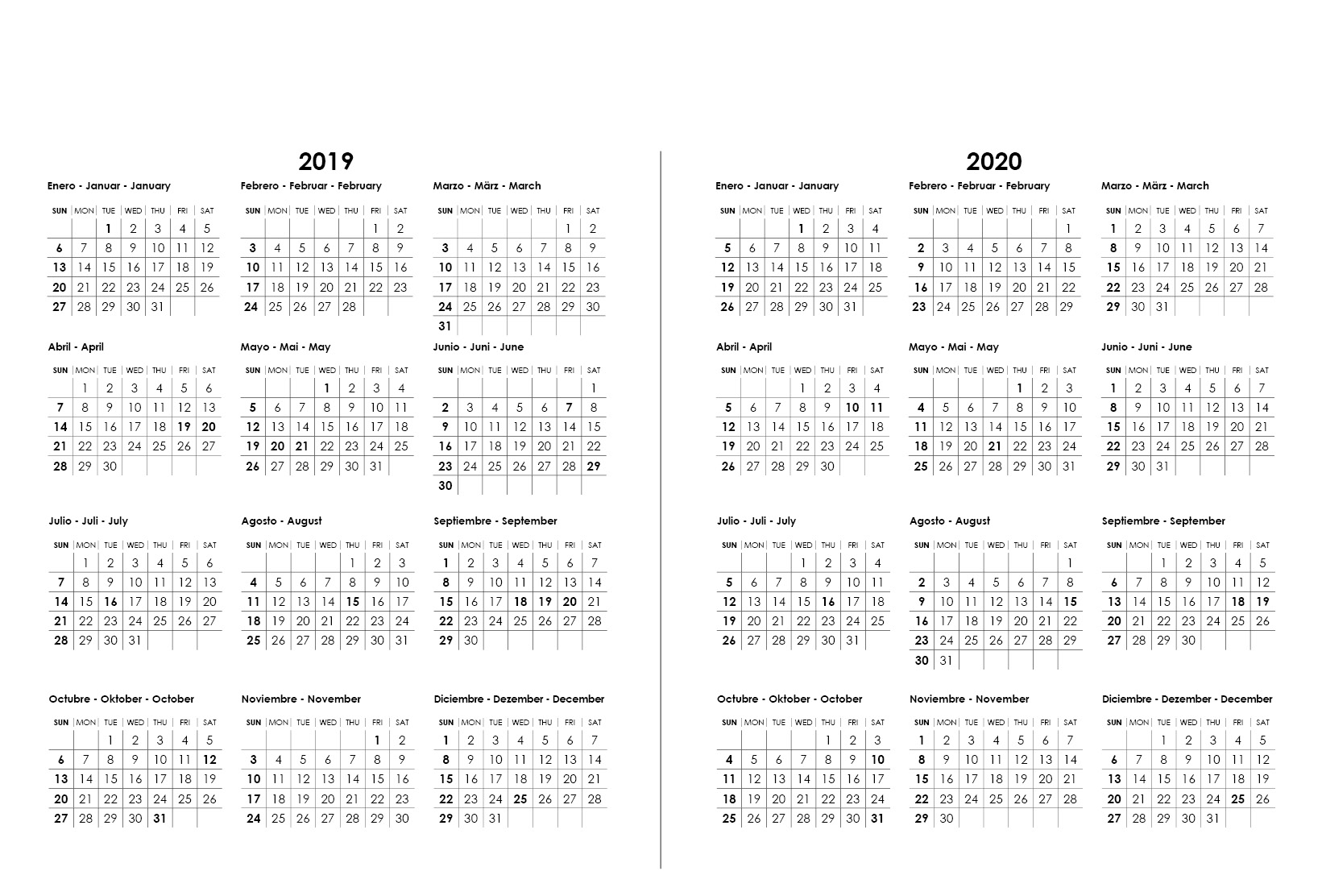 Calendario Chile 2020.Chile Desconocido Desk Calendar 2019 Landscapes And Nature